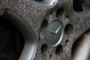 Dampfreiniger für Autofelge